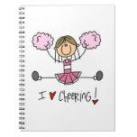 Figura rosada camisetas y regalos del palillo de l libretas