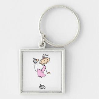Figura rosada camisetas y regalos del vestido del  llaveros