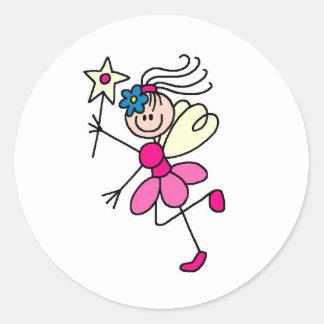 Figura rosada pegatina del palillo de la hada