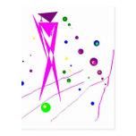 Figura rosada y púrpura abstracta del Humanoid Postal