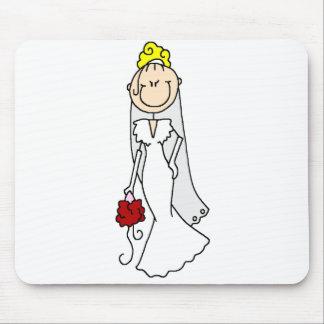 Figura rubia Mousepad del palillo de la novia