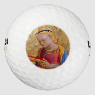 Figura santa cristiana de oro del vintage pack de pelotas de golf