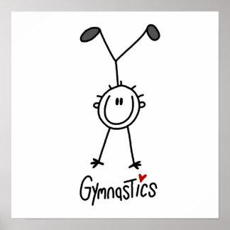 Figura simple gimnasta del palillo posters