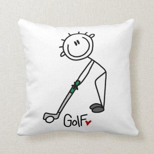 Figura simple golfista del palillo cojines