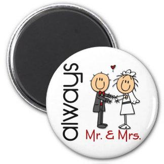 Figura Sr. y señora Always del palillo de los Imán Redondo 5 Cm