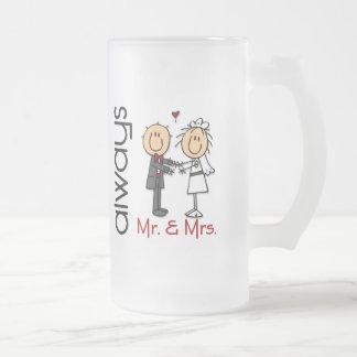 Figura Sr y señora Always del palillo de los pare Tazas De Café