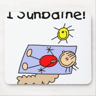 Figura Sunbather del palillo del chica Alfombrillas De Ratones