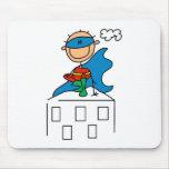 Figura superhéroe Mousepad del palillo Tapete De Ratón