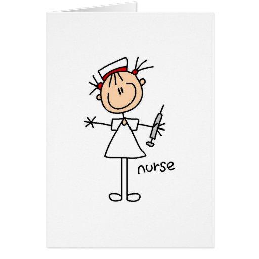 Figura tarjeta del palillo de la enfermera