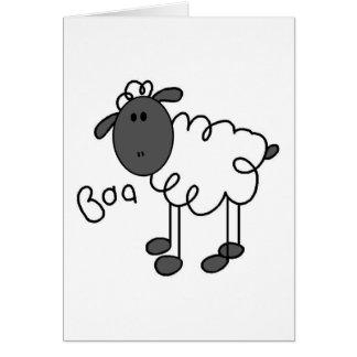 Figura tarjeta del palillo de las ovejas
