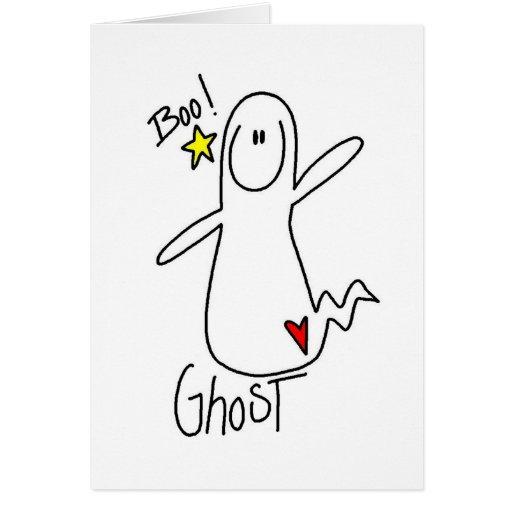 Figura tarjeta del palillo del fantasma de Hallowe
