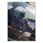 Figura tarjeta del piloto de avión de combate