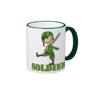 Figura taza del palillo del soldado