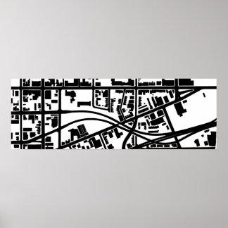 Figura tierra de Corktown Póster