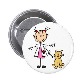 Figura veterinaria botón del palillo pin