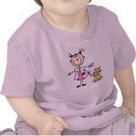 Figura veterinaria del palillo camisetas