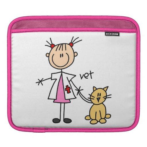 Figura veterinaria del palillo mangas de iPad