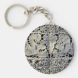 Figural Italian Lace Keychain