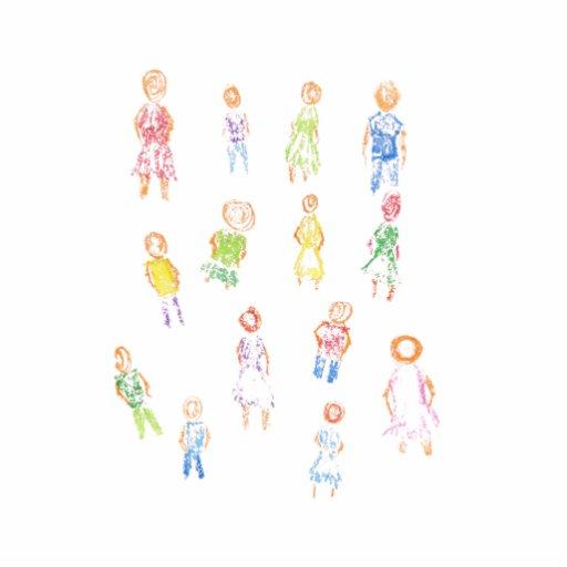 Figuras coloridas de la gente que dibujan b claro  esculturas fotográficas