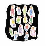Figuras coloridas de la gente que dibujan el papel esculturas fotograficas