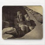 Figuras colosales, Abu Sunbul, Egipto Tapete De Raton