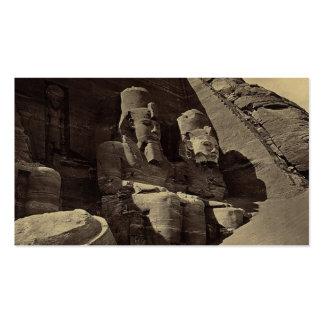 Figuras colosales, Abu Sunbul, Egipto Tarjetas De Visita