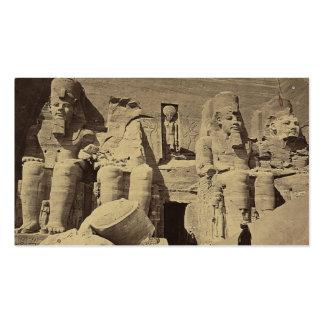 Figuras colosales, el gran templo en Abu Sunbul Tarjetas De Visita