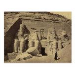 Figuras colosales, el gran templo en Abu Sunbul Tarjeta Postal