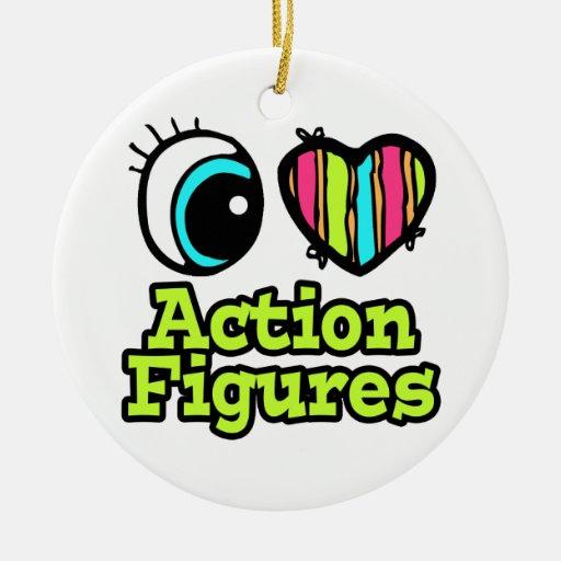 Figuras de acción brillantes del amor del corazón ornamento para arbol de navidad