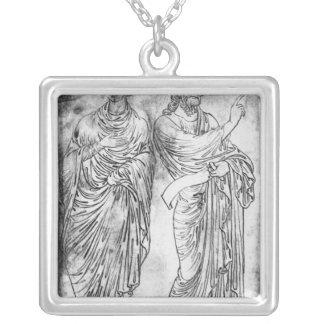 Figuras de dos apóstoles o profetas collar personalizado