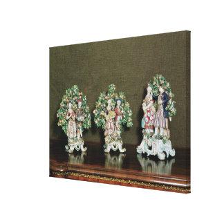 Figuras de la porcelana del arco, 1761 impresiones en lona estiradas