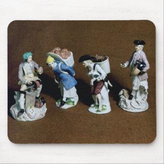 Figuras de Meissen: saddler, vendedor de la cabra Alfombrillas De Raton