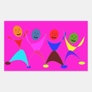 Figuras del baile pegatina rectangular