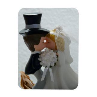 Figuras del boda iman rectangular