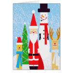 Figuras del navidad tarjetas