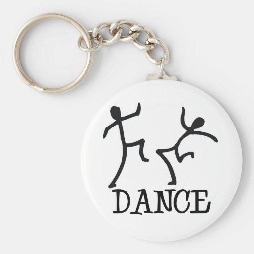 Figuras del palillo de la danza llaveros personalizados