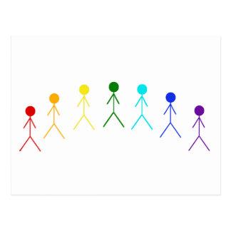 Figuras del palillo del arco iris - 2 postal