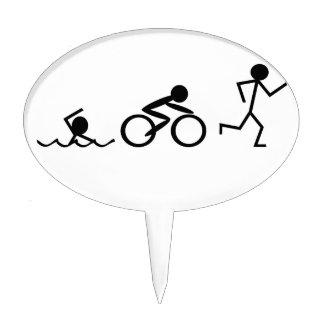 Figuras del palillo del Triathlon Figuras De Tarta