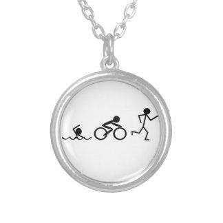 Figuras del palillo del Triathlon Colgante Redondo
