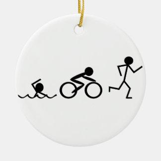 Figuras del palillo del Triathlon Adorno Para Reyes