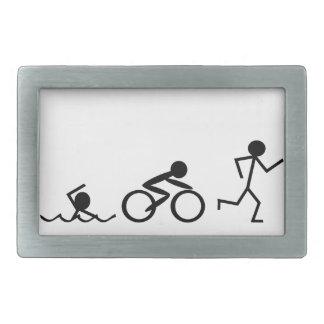 Figuras del palillo del Triathlon Hebilla Cinturon Rectangular