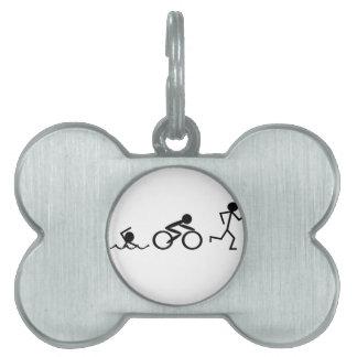 Figuras del palillo del Triathlon Placa Mascota