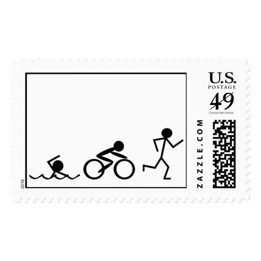 Figuras del palillo del Triathlon Sello