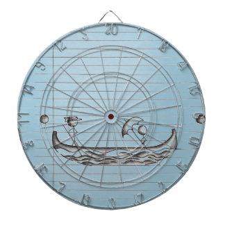 Figuras del palillo en un barco de la góndola