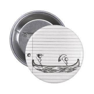 Figuras del palillo en un barco de la góndola chapa redonda 5 cm