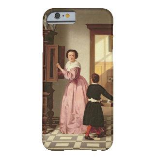 Figuras en un Laundryroom, 1864 (aceite en lona) Funda Barely There iPhone 6