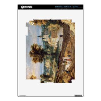 Figuras en un paisaje con bey del pueblo y del cas iPad 3 pegatinas skins