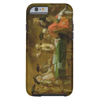 Figuras en una taberna o un café, 1720s (aceite funda de iPhone 6 tough
