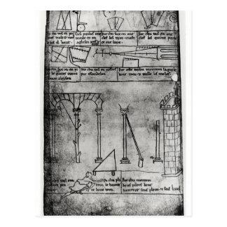 Figuras geométricas para la construcción tarjeta postal
