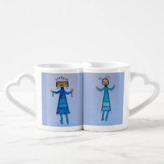 Figuras geométricas taza del diseño tazas para parejas